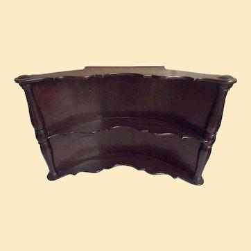 "Edward Garratt Corner Wall Shelf...Two Scalloped Shelves..Cherry Mahogny Finish...18.5"" W  X 12"" T...2 Available"