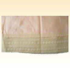 Vintage Pink Rayon Slip 1940's Diamond Pattern Lace Trim NOS Size 36 NOS