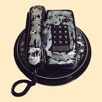MOP Inlaid Decorative Telephone From Korea...Phone..Base..Swivel Stand