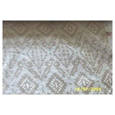 Vintage...Quality Linen Upholstery Fabric..Woven Jacquard..Natural Color..15 Yards..NOS