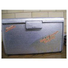 1950's THERMASTER Poloron Cooler..Hammered Aluminum..Good Used Condition