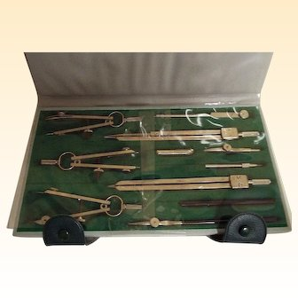 Draftsman Set Of Tools In Case...New Old Stock