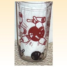 Hazel Atlas Bowling Tumblers..Juice Glass Set Of 6