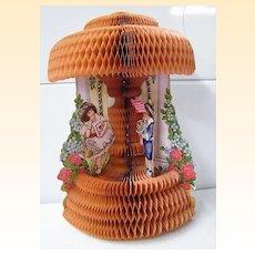 Victorian Honeycomb Valentine...Girl & Boy..Heart & Flowers..By Beistle USA..