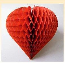 Honeycomb Hanging Heart Decoration