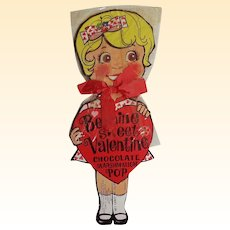 Valentine Girl Chocolate Marshmallow Lolly Pop Holder..New Condition!