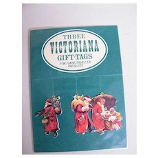 Victorian Style Small Gift Tags..Ass't With Die Cut Santas 2 Packages..Stocking / Card / Basket 1 Package..NIB..3 Tags To packages..3 Packages Available