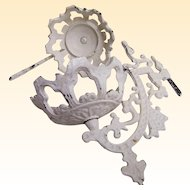 Pair Of Iron Wall Candelabra Painted White