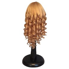 """Vintage French Blonde Human Hair Doll Wig for Antique Bisque with 8-9.75"""" HC"""