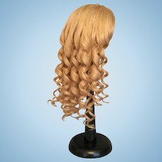 """Vintage Long Blonde Human Hair Doll Wig for Antique Bisque with 12.25""""- 13"""" HC"""