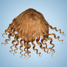 """Wonderful Antique Blonde Human Hair Doll Wig for French or German Bisque with 10-12"""" HC"""
