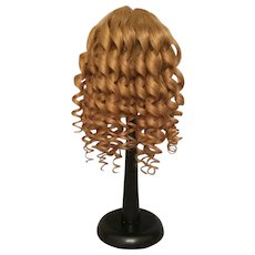 Voluptuous Blonde Antique Human Hair Doll Wig for French or German Bisque with 11.25 - 13 inch HC
