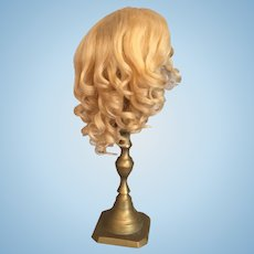 Beautiful Blonde Antique Mohair Doll Wig for 9 1/2 to 11 inch Head Circumference