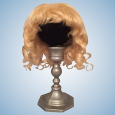 Pale Golden Blonde Vintage Mohair Doll Wig for French or German Bisque with 8.75-9.5 HC