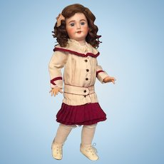 Exceptionally Pretty 20 Inch SFBJ Bebe Jumeau 301 French Bisque Child Doll