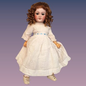 S.F.B.J. 22 inch Jumeau 301 Bebe Vrai Modele French Bisque Doll with Working Mama Papa Cryer