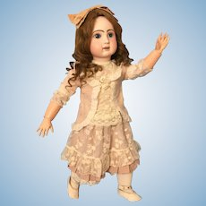 """Sweet Faced 27"""" Jules Steiner French Bisque """"Bebe Le Parisien"""" Antique Doll"""