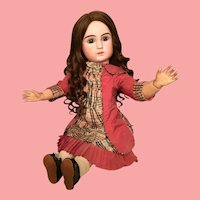 Mesmerizing Jules Steiner Figure A 19 French Bisque Bebe in Large 28 inch Size