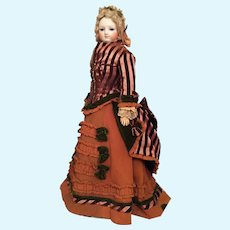Early 17 inch French Bisque Fashion Poupee Circa 1860