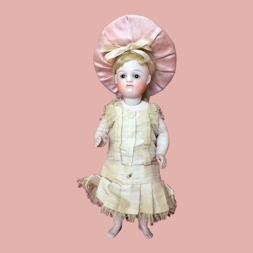 """Highly Sought After 7"""" Barefoot Kestner All-Bisque Pouty German Bisque Doll"""