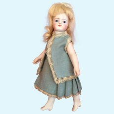 Wondrous French Market 7 Inch All Bisque Doll by Simon and Halbig