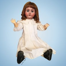 Classic Handwerck German Bisque Child in Colossal 31 1/2 Inch Size