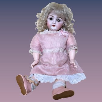 """Charming 14"""" Kestner Early Style 143 German Bisque Child Doll"""