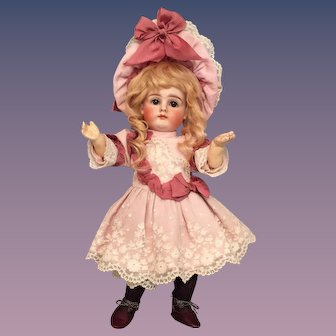 """Amazing 12 inch Kestner Early Pouty Closed Mouth Child Marked """"7"""""""