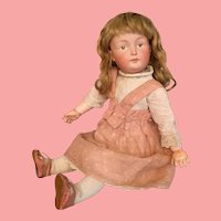 """Dreamiest Rare Kestner 182 German Bisque Character Child in Perfect 15"""" Cabinet Size"""