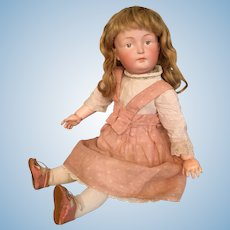 "Dreamiest Rare Kestner 182 German Bisque Character Child in Perfect 15"" Cabinet Size"