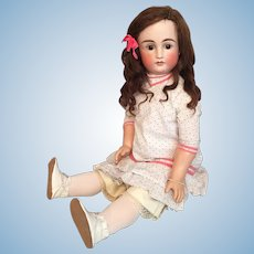 Grand 31 Inch Kestner 103 Early Closed Mouth German Bisque Child