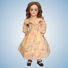 Delicate and Demure Early Kestner 16 Inch German Bisque Child with Molded Square Teeth