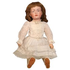 """Ethereal 17"""" Kley and Hahn German Bisque Character 536 with Brown Painted Eyes"""