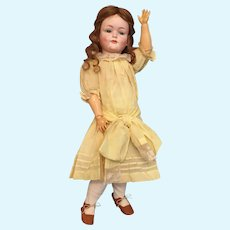 """Jubilant 21"""" Kley and Hahn German Bisque 549 Character Child"""