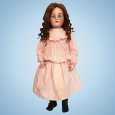 """29"""" Kammer & Reinhardt German Bisque Child Doll Marked 73 and W on Forehead with Piercing Blue Eyes"""