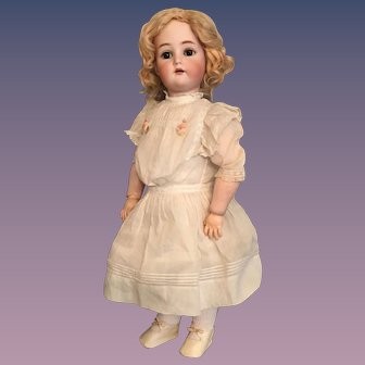 25 inch Kammer & Reinhardt German Bisque Child Doll with Sweet Expression and Lovely Long Lashes