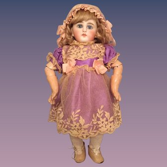 """Petite 11"""" Sonneberg Desirable 136 Model German Bisque Doll for the French Trade"""