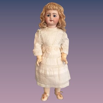 """Effervescent 22"""" Simon and Halbig 719 German Bisque Character Child with Original Mohair Wig"""