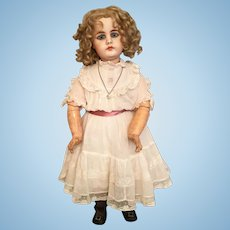 """Stunning 19"""" Simon & Halbig Closed Mouth 949 Bisque Character Child"""