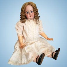 """Wondrous 31"""" Simon and Halbig 949 German Bisque Child Doll with Original Wig"""