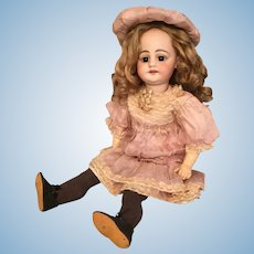 "Extraordinary 16"" Simon and Halbig 739 German Bisque Character Child w/ Original Mohair Wig"