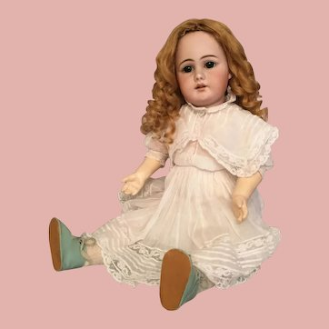 Precious 19.5 Inch Simon and Halbig 939 German Bisque Doll with Open Mouth and Sweetest Expression