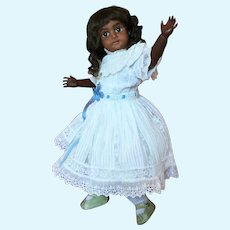 Dainty Simon and Halbig Brown-Complexioned German Bisque 1079 Child Doll
