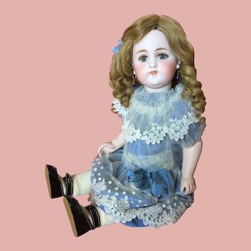 Desirable Early Simon & Halbig 908 German Bisque Closed Mouth Child