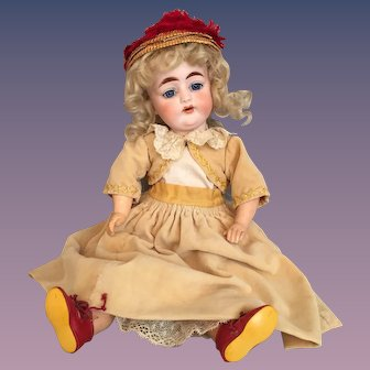 Precious Cabinet Size German Bisque Child Doll Marked L.P.S.