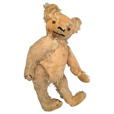 "Well Loved 13"" Antique Mohair Swivel Head Humpback Teddy Bear"