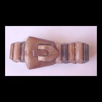 Vintage Celluloid Buckle / Garter Bracelet