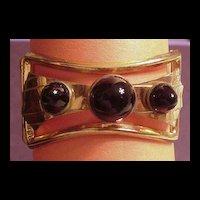 Wonderful Early Coro Hinged Rhinestone Clamper Bracelet