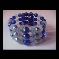 Wonderful Cobalt Glass Wrap Bracelet
