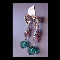 Vintage Jewelry Vendome Dangling Crystal Drop Earrings